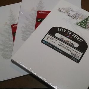 Other - NEW Snowy Winter Letterhead 3 Pack 160 Sheets